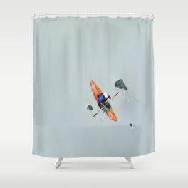 Solitude- Kayaker Shower Curtain