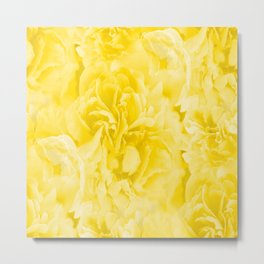 Yellow Peony Petals in Close-up #decor #society6 #buyart Metal Print