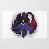 marceline Area & Throw Rugs featuring Marceline by ribkaDory