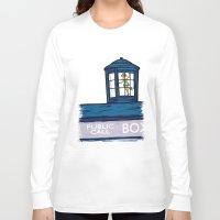 hallion Long Sleeve T-shirts featuring Stowaway by Karen Hallion Illustrations