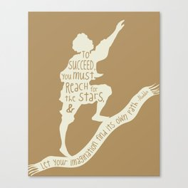 To Succeed you Must Reach for the Stars and Let you Imagination find its own Path - Aladdin Canvas Print