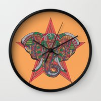 hakuna Wall Clocks featuring Hakuna Matata by Sharif El Fatatry