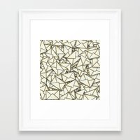 geek Framed Art Prints featuring Email by 10813 Apparel