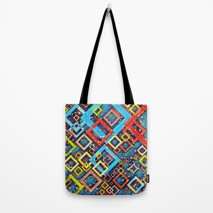 sparkling check pattern A Tote Bag