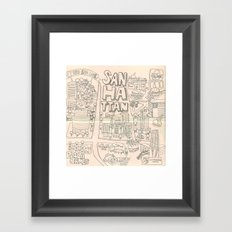 Sanhattan Framed Art Print