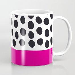 Modern Handpainted Polka Dots with Pink Coffee Mug