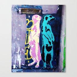 Meerkat Graffiti Canvas Print