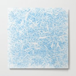 White Out Frost Metal Print