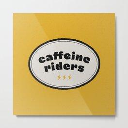 Caffeine Riders # yellow & black Metal Print