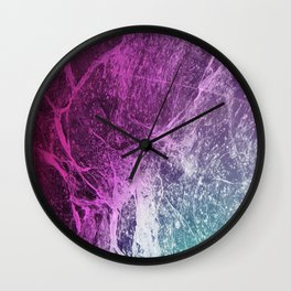 Pink Marble Gradient Wall Clock