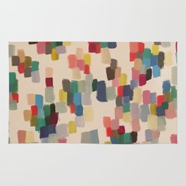 Colorful happy cheerful abstract painting Rug