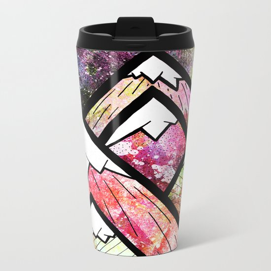 As the high peaks grow Metal Travel Mug