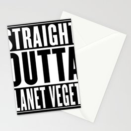 Straight Outta Planet Vegeta Stationery Cards