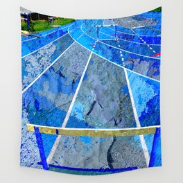 Track And Field Art Wall Tapestry
