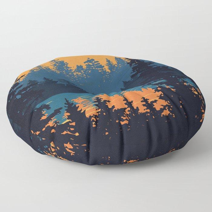 Algonquin Park Poster Floor Pillow