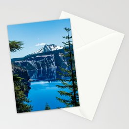 Crater Lake // Incredible National Park Views of the Dark Blue Waters Sky and Mountains through the Stationery Cards