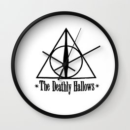 Deathly Hallows HarryPotter Wall Clock