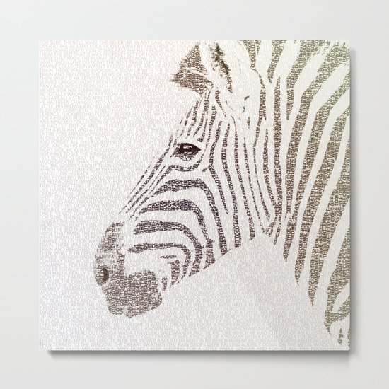 The Intellectual Zebra Metal Print