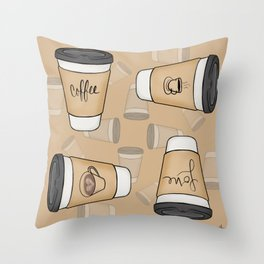 Coffee Love Throw Pillow