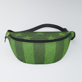The grass and stripes / 3D render of USA flag grown from grass Fanny Pack