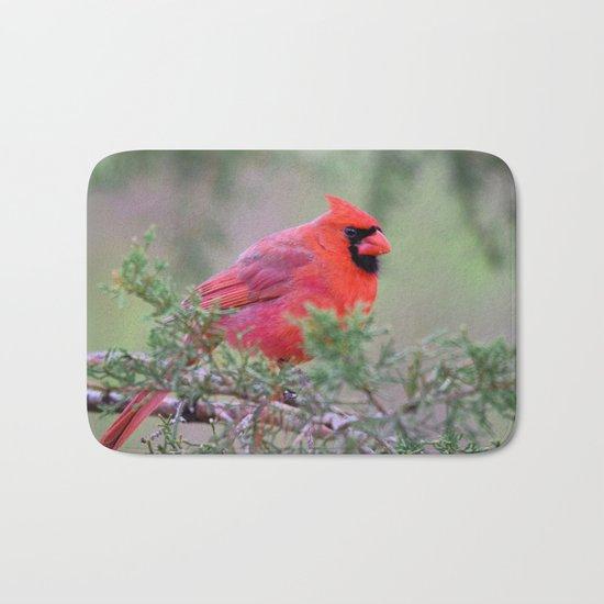 Spring Cardinal Bath Mat