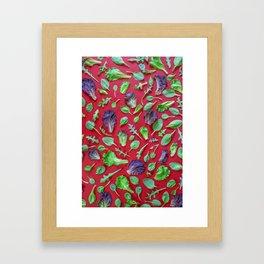 Vegetables pattern (18) Framed Art Print