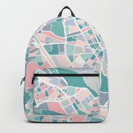 Valencia City Map Art Backpack