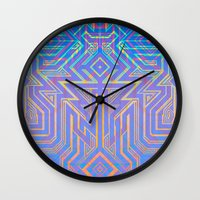 tron Wall Clocks featuring Tron-ish by Roberlan Borges