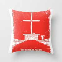 outdoor Throw Pillows featuring The Outdoor Chapel - Home At Last by Home At Last - Rainbow Trail Lutheran Ca