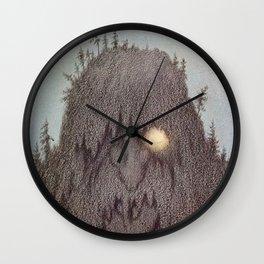 """""""Forest Troll - Skogtroll"""" by Theodor Kittelsen Wall Clock"""