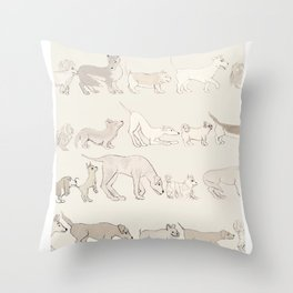 ButtSniff Throw Pillow