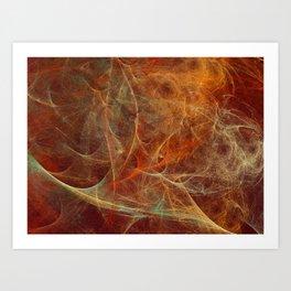 Abstract texture in autumn tones Art Print