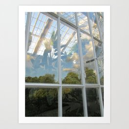 Clouds in the greenhouse #1 Art Print
