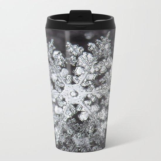 Sowflake closeup #4 Metal Travel Mug