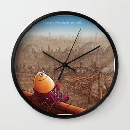 """""""Humpty Dumpty"""" Page Sample (Mother Goose Retold-Trumble Book) Wall Clock"""