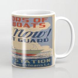 Vintage poster - Coast Guard Coffee Mug