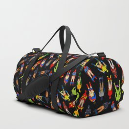 Superhero Butts Pattern (Dark) Duffle Bag