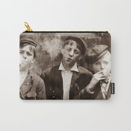 Newsboys Smoking - 1910 Child Labor Photo Carry-All Pouch