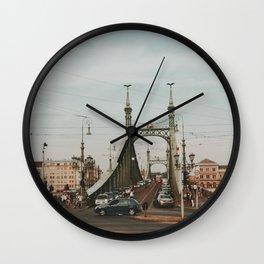 Liberty Bridge, Budapest, Hungary  Wall Clock