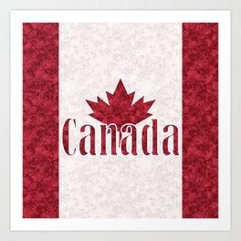 Canada, flag Art Print