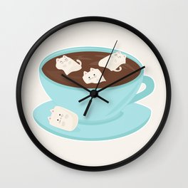 Marshmeowlows Wall Clock