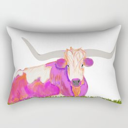 Pink Longhorn Rectangular Pillow