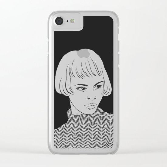 Chic Lady Clear iPhone Case
