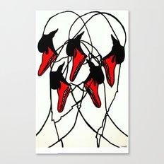 Moving Swan Canvas Print