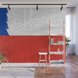 Extruded Flag of Chile Wall Mural