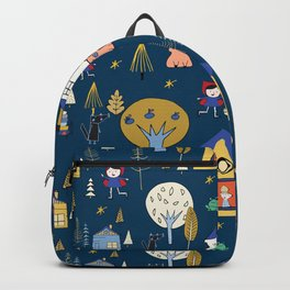 Wonderland Fairy Tale Navy Backpack