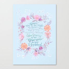 Amazing Grace - Hymn Canvas Print