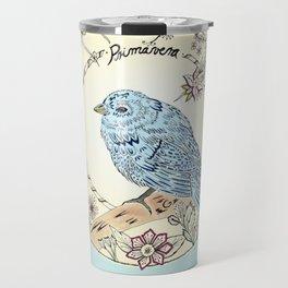 Blue Bird in Spring (Inspiration Antonio Vivaldi) Travel Mug