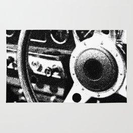 """Classic Car Wheel"" Rug"