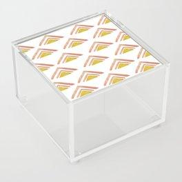 Pink and Yellow Boho Triangles Acrylic Box